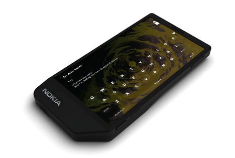 Prototype de mobile à écran tactile liquide
