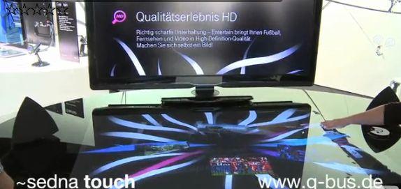 Lors du dernier salon IFA de Berlin, les visiteurs ont pu s'adonner aux joies du multi-touch grâce à une table-TV multi-tactile plutôt sympa et un mur multitouch géant (de 18...