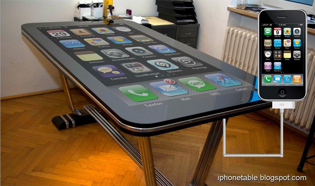 Après l'iPhone et l'iPad, on peut se demander à quand l'iTable ? Bon, en fait la dénomination iTable est déjà prise par la société PQ labs, mais vous m'avez compris,...