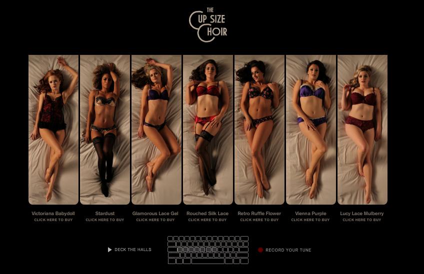 La Senza, une marque de lingerie féminine, a récemment lancé un site un peu particulier nommé «The Cup Size Choir«. Ce dernier propose de jouer de la musique via une...
