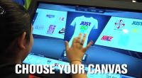 Il y a quelques semaines nous avions détecté un projet de table tactile permettant de concevoir ses propres T-shirt en magasin destiné à équiper les magasins de la célèbre marque...