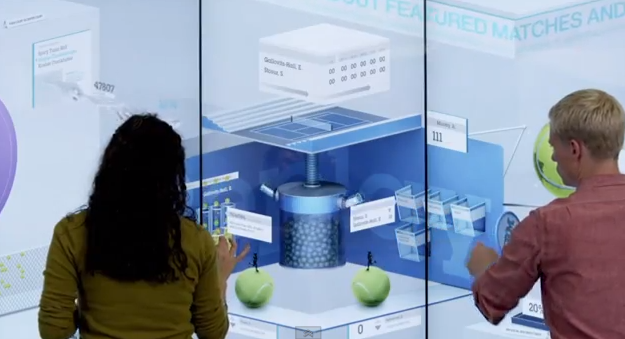 mur tactile multitouch us open ibm