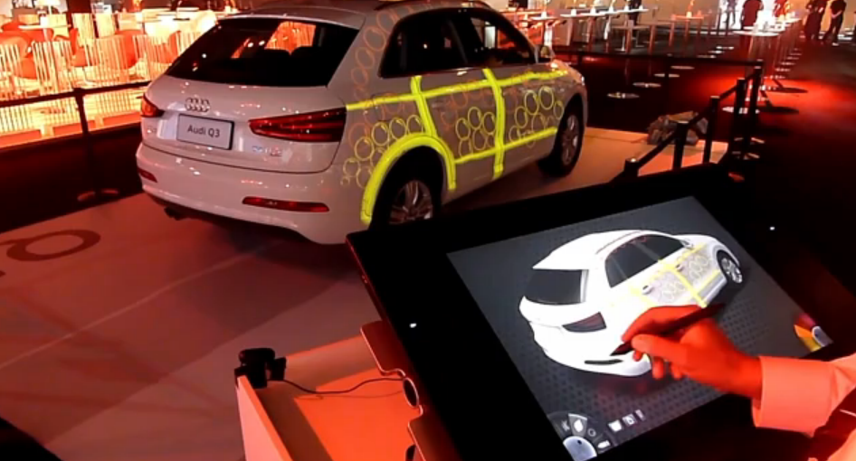 Ecran tactile decoration interactive audi